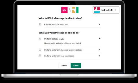 Talk-talk me - voice messaging slack bot